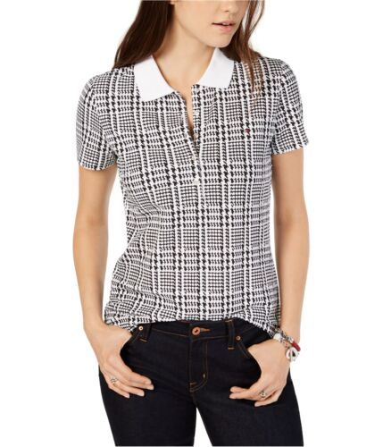 Tommy Hilfiger Womens Houndstooth Polo Shirt