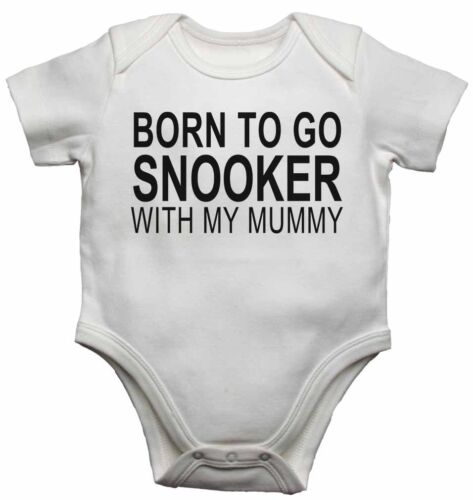 New Baby Vests Bodysuits for Boys Girls Gift Born to Go Snooker with My Mummy