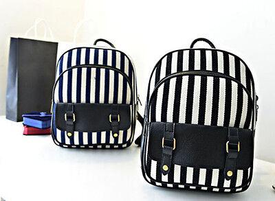New Womens Canvas backpack Small Outdoor Rucksack Bookbag Laptop Bags Satchel