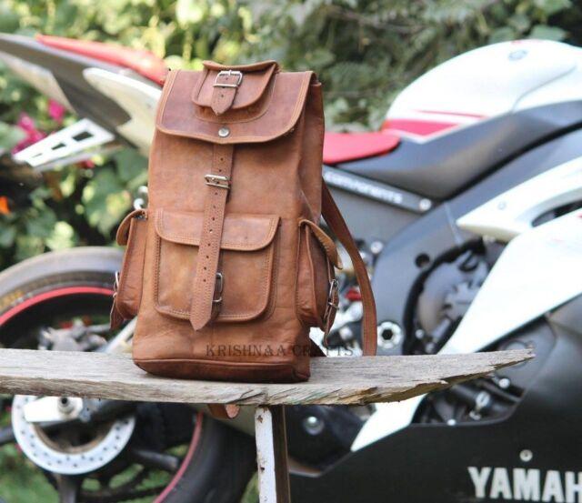 Leather Vintage Backpack Shoulder Bag Messenger Bag Rucksack Sling Bag back pack