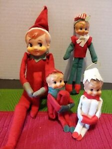Vintage Pixie Elf Elves Shelf Sitters