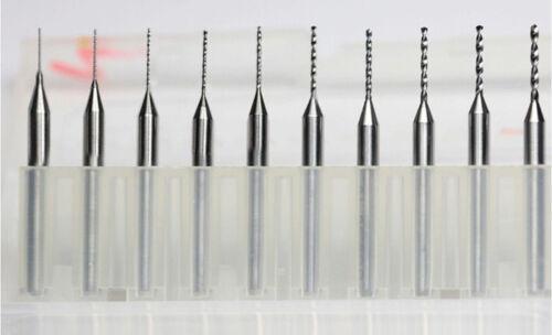 10pcs Carbide Micro Drill Bits 1.95mm CNC PCB Dremel 1//8 3.175mm Shank