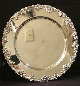Vintage-Godinger-Silver-Art-Co-Marked-Silver-Plate-Round-12-034-Platter-Grape-Motif