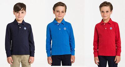North Sails Kids Boys Red Navy Blue Polo Shirt Collar Long Sleeve T shirt 4 12 | eBay