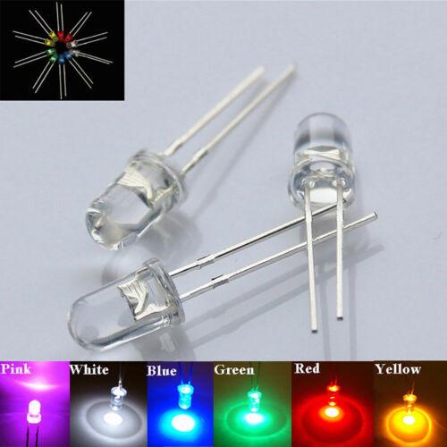 LC/_ 3mm//5mm Ampoules Led Ultra Lumineux Eau Transparent Leds 3v
