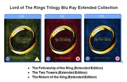 1 of 1 - LORD OF THE RINGS TRILOGY PART 1 2 3 BLU RAY Extended Edition All Movie Films UK
