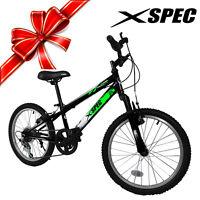 Xspec 20 Boys 6 Speed Junior Teen Mountain Bike Bicycle Trail Commuter Black on sale