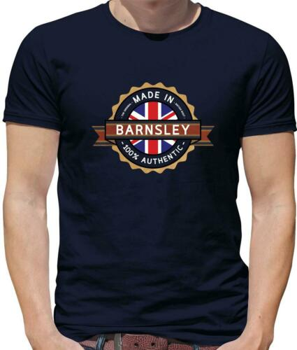 Northerner Hometown City Town Made In Barnsley Mens T-Shirt