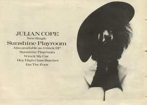 5-11-83PN47-ADVERT-JULIAN-COPE-4-TRACK-SINGLE-SUNSHINE-PLAYRO0M-7X11