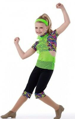 Extreme Dance Costume Jazz Tap Hip Hop Cropped Pants and Crop Top Child Small