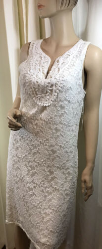 MARIA GABRIELLE IVORY LACE OVERLAY EVENT DRESS SZ