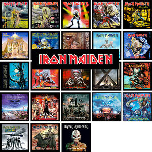 Iron Maiden 24 Pack Of Album Cover Discography Magnets Lot