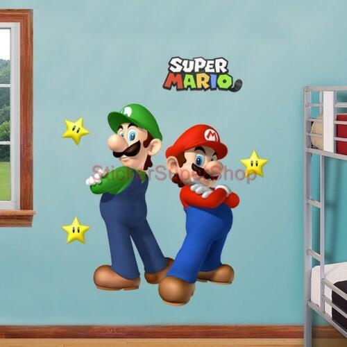 SUPER MARIO and LUIGI Bros Decal Removable WALL STICKER Decor Art FREE SHIPPING