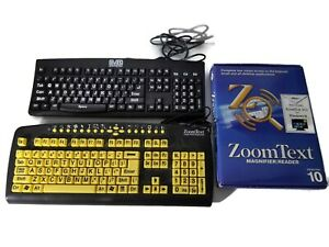 Large-Print-Keyboard-LOT-Zoomtext-Evas-Zoomtext-Software-Version-10