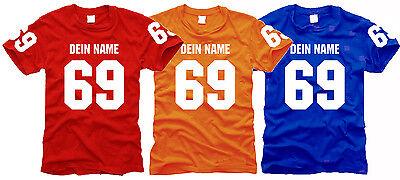 T-Shirt mit deinem Namen und Zahlen nach Wunsch - Wunschdruck - Gr. S bis XXL