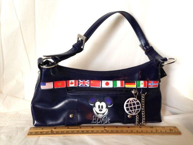 Disney Epcot Handbag Mickey Flags of the World Purse Bag 1 Mouse 1 World