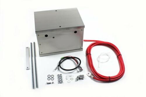 Batterie Boîte Coffre Alu Case Batterie encadré décaler Câble Box