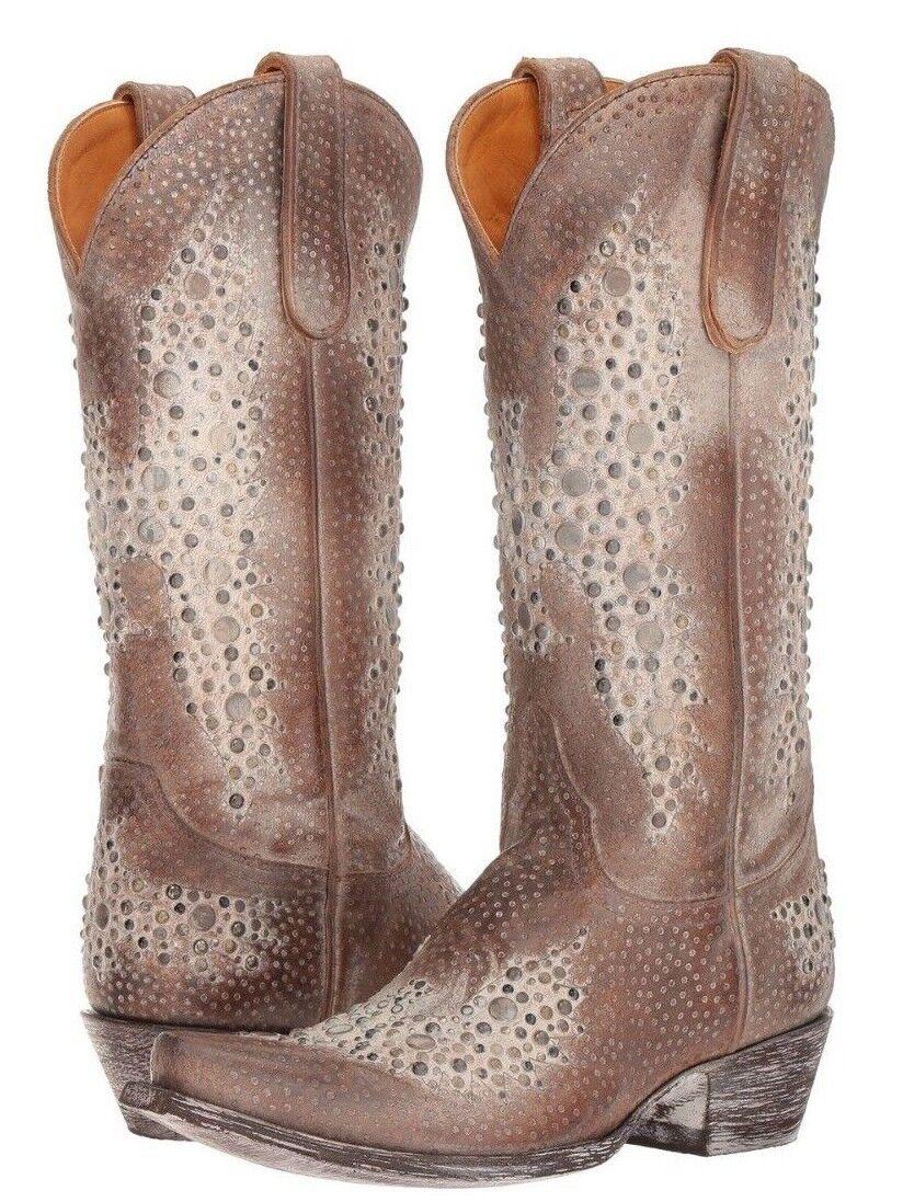 Old Gringo Femme Cowboy Western bottes Aigle Métal 13  Ocre clous en métal 8 US