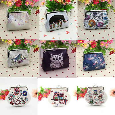 Back to School Womens Fashion Owl Wallet Card Holder Case Coin Purse Clutch Bag