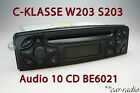 W203 Radio Mercedes Audio 10 CD BE6021 Original C-Klasse Becker Autoradio S203