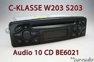 W203-Radio-Mercedes-Audio-10-CD-BE6021-Original-C-Klasse-Becker-Autoradio-S203