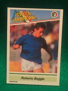 1990-Roberto-Baggio-Forza-Campioni-Rookie-national-Team-Card