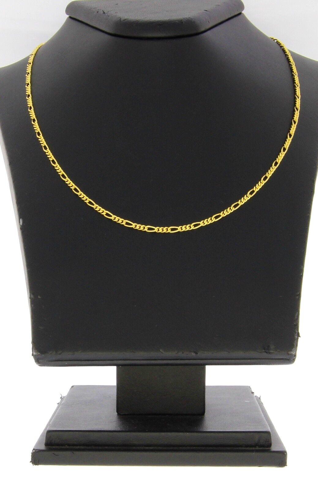 A1332-333er yellowgold Kette Lang 41,5 cm Breit 2 mm Gewicht 4,1 Gramm
