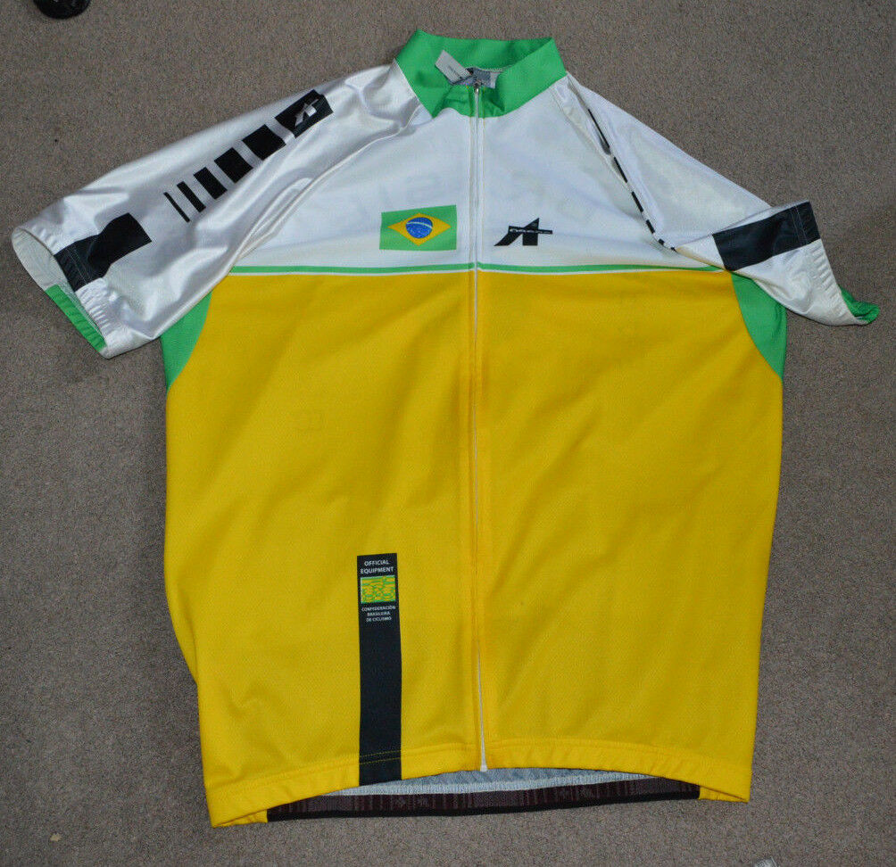 Brazilian Cycling Confederation Jersey XL Brazil Brasil Full Zip