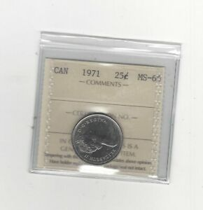 1971-ICCS-Graded-Canadian-25-Cent-MS-65