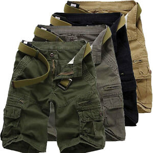Camo Pockets Design Zipper Fly Cargo Pants