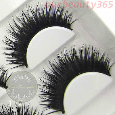 NEW Sale! BXM06 6 Pairs Long Thick CROSS False Eyelashes Party eye lashes makeup