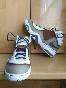timeless design 6bc9a 37e14 Image is loading Nike-Air-Force-Multi-Color-Beige-Leather-Men-