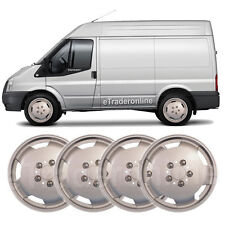 "Ford Transit Van 15"" Wheel Trims Silver Deep Dish Hub Caps Domed Trim x 4 New"