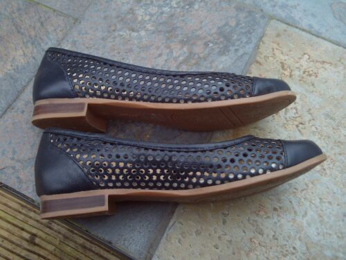 Flats Navy Pumps Uk3 Ladies Bellana Leather Size Eu36 Lotus Sandals a7qwS