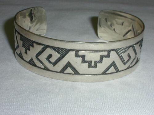 Mexican Bracelet Tribal Hook Eye Bangle Size 6 .5 Sterling Silver  Black Resin Vintage Modern Aztec Mayan Design