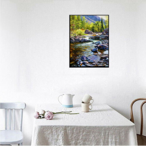 5D Full Drill Diamond Painting Cross Stitch Embroidery Xmas Moutain Spring