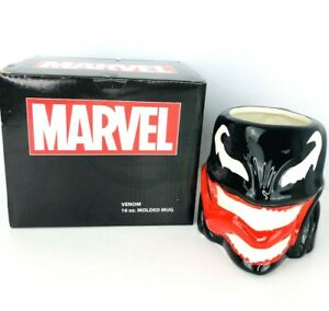Marvel-Comics-Venom-Coffee-Mug-Spider-Man-Villain-3D-Face-Tea-Cup-Ceramic-16-Oz