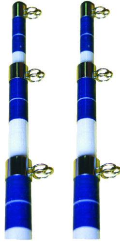 Seachoice Marine 3 Section Teleskop Glasfaser 15' Ausleger Stange 15' Glasfaser Weiß /Blau d47c8d