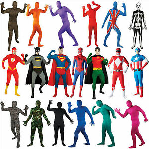 2nd-Skin-Mens-Superhero-Licensed-Fancy-Dress-Costume-Full-Body-Lycra-Skinz-Suit
