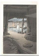 Japanese woodblock print, Hasui Kawase. Lot 462
