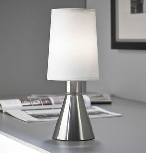 led touch me nachttischlampe leselampe dimmbar wohnzimmer lampe tischlampe t91 1 ebay. Black Bedroom Furniture Sets. Home Design Ideas