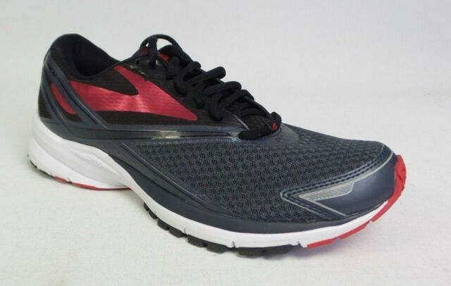 8f54b124499 Mens Brooks Launch 4 Stability Running Shoes Anthracite Black Red ...
