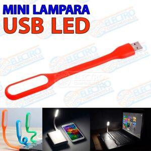 Lampara-LED-USB-flexible-color-ROJO-luz-portatil-linterna-leer-bateria-externa