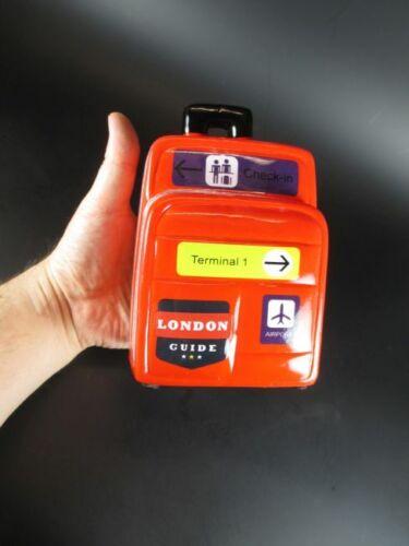 Money Bank 18 cm Neu Koffer Spardose London Airport Reisekoffer Urlaubskasse