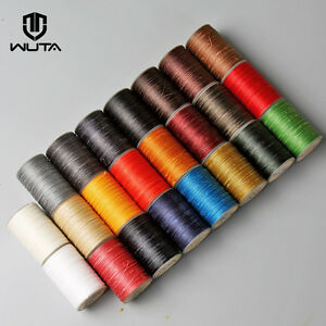 WUTA-0-55mm-Round-Waxed-Thread-Leather-Hand-Sewing-Stiching-Cord-98-Yards