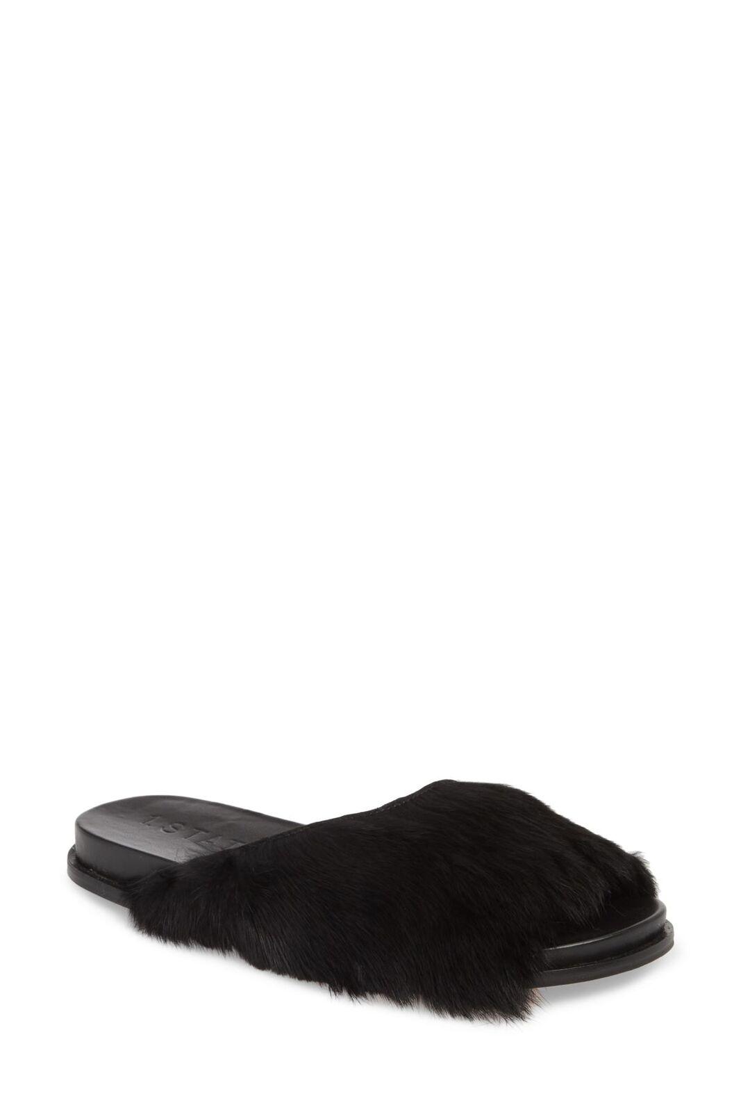 1.STATE damen ONORA2 Slide Sandal schwarz SHEEP