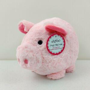 Jumbo  Plush Pig Light Pink PIGGY BANK Girls savings stuffed animal toy