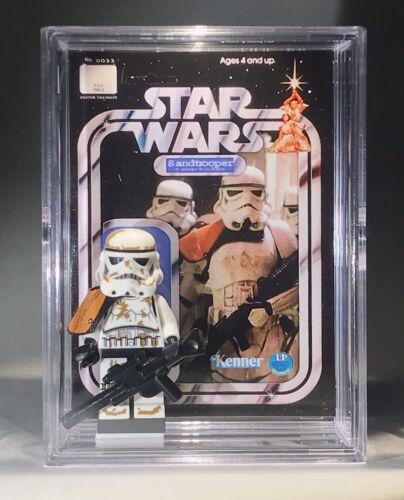 Star Wars Sand Trooper Custom Mini Action Figure w Display Case /& Stand Mini-fig