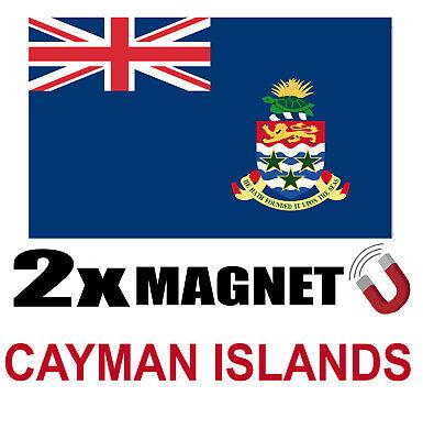 2 X Cayman Islands Drapeau Magnet 6x3 Cm Aimant Déco Magnétique Frigo