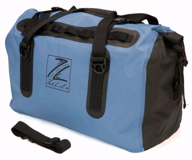 Waterproof Motorcycle Luggage Roll Top Dry Bag Seat Tail Rack Pack 60l Blue Blk